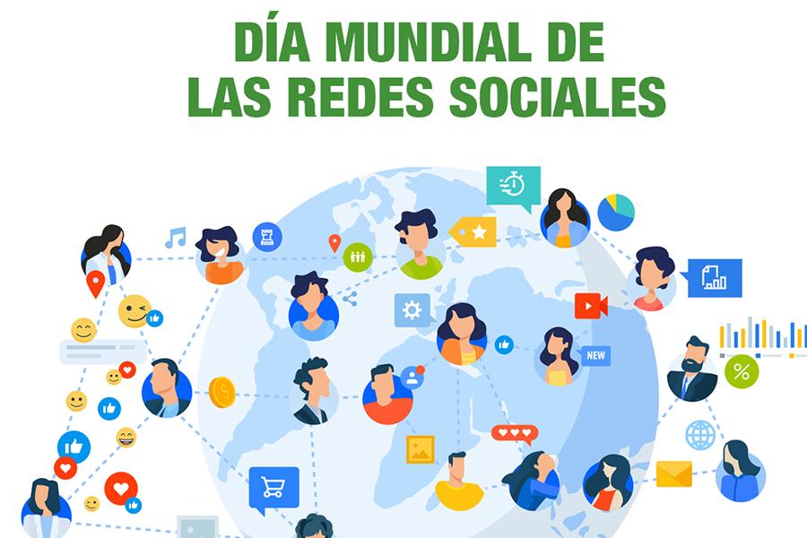 Infografía Día mundial de redes sociales